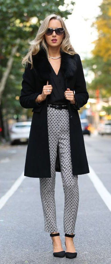 #street #style fall / chic pattern print pants