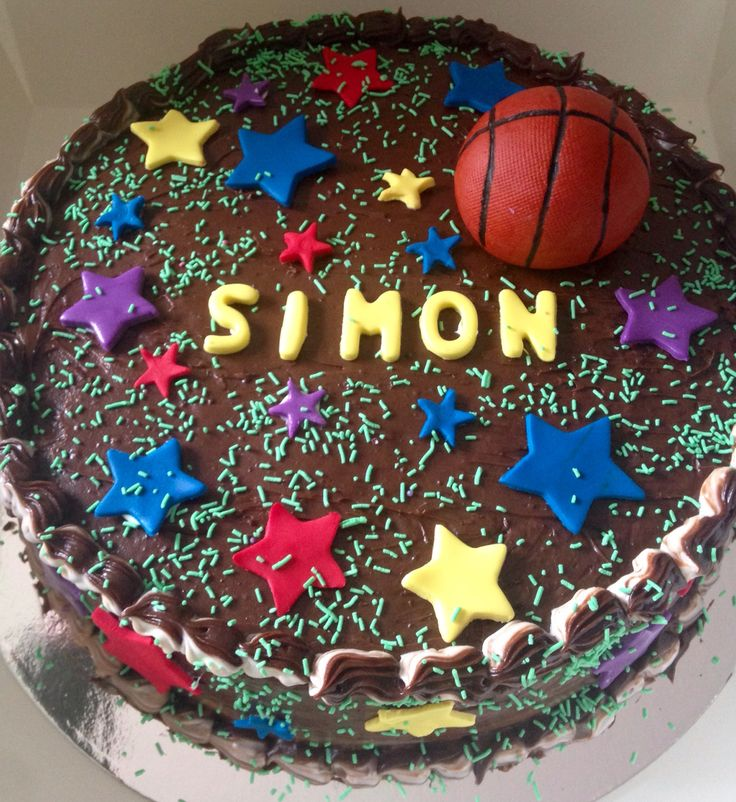 Basketball choc cake