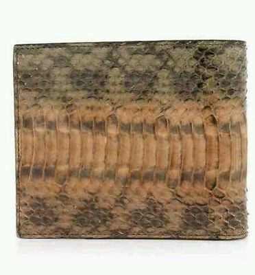 Paul Smith Snakeskin Khaki Billfold Wallet RRP £240