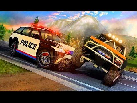 police car smash car game gameplay