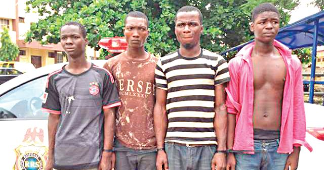 Gang who robbed raped women arrested in Lagos   A gang of four robbers who raped nine women in two weeks have been arrested by the Lagos State Police Command.  A four-man gang who specialized in robbing and gang-raping women have been arrested by operatives of the Rapid Response Squad (RRS) of the Lagos State Police Command after they raped nine women in less than two weeks. New Telegraph reports that the gang comprising of Saviour Daniel 23 Daniel Olayemi 18 Abdulwahab Yusuph 17 and the…
