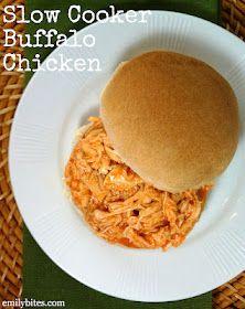 Emily Bites - Weight Watchers Friendly Recipes: Slow Cooker Buffalo Chicken omg yum
