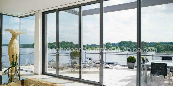 Hot Item Aluminum Door Profile 3 Panel Triple Sliding Glass Door Aluminium Patio Doors Sliding Glass Door Aluminium Sliding Doors
