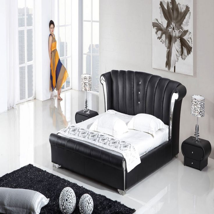 Black Leather Bedroom Furniture   Bedroom Sets Full Size Bed Check More At  Http:/