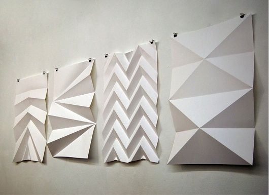 Wall art folding paper pump up the volume pinterest Wall art paper designs
