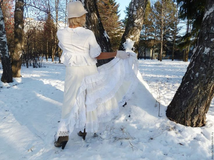 Купить Вспомним нынешнее лето....... - белый, однотонный, юбка летняя, кокетка, бохо-стиль, кружева