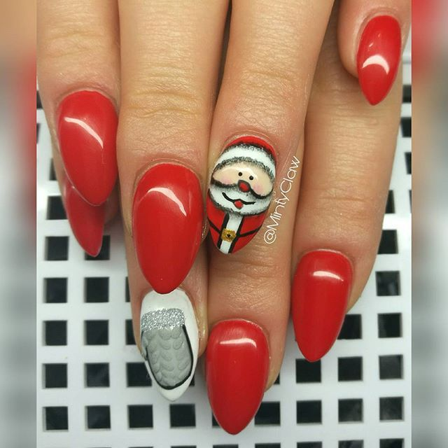 #paznokcie #nails #manicure #gelnails #mintyclaw #santaclaus #christmasnails #rednails #nailac @nailacuv