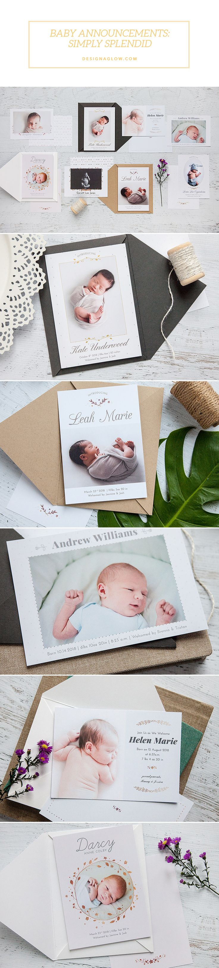 Product Spotlight: Baby Announcements: Simply Splendid