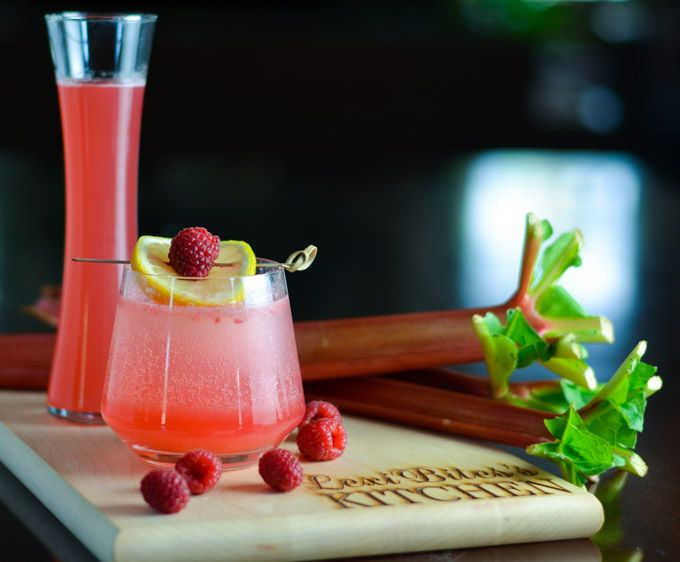 Sparkling Rhubarb and Raspberry Collins