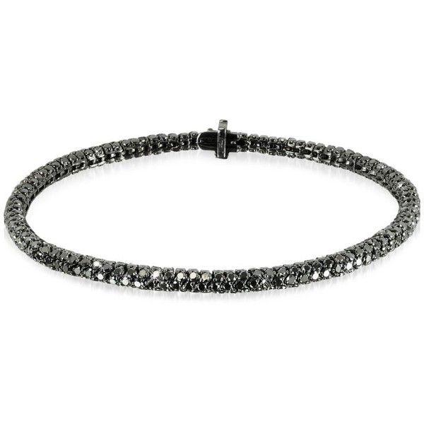Christian Koban Bracelets Clou Black Diamond Bracelet (15,423 CAD) ❤ liked on Polyvore featuring jewelry, bracelets, 18k jewelry, 18k bangle, 18 karat gold jewelry, black diamond jewelry and black diamond bangle