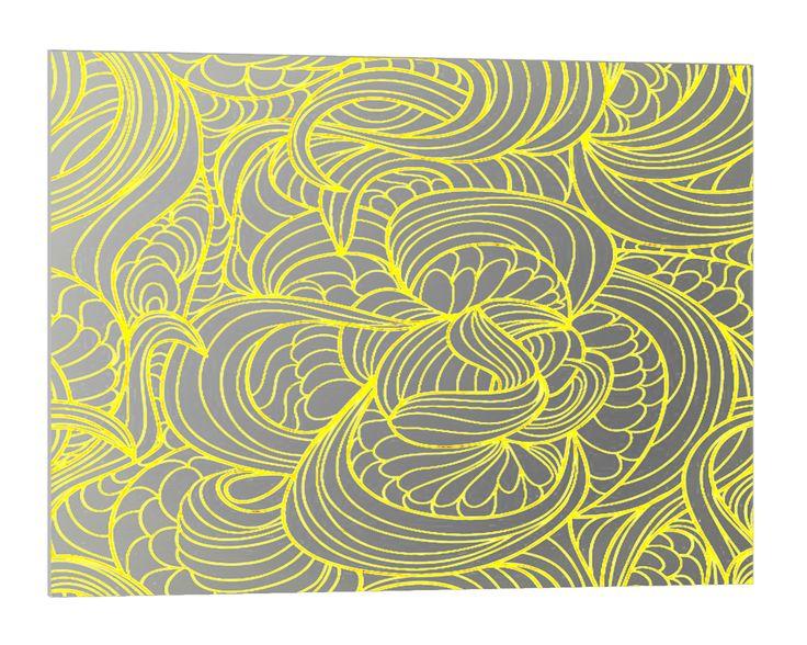 """Fond de hotte inox stylisé pour la cuisine, modèle """"Allégorie"""" stainless steel splashback kitchen deco wall panel decor """"Allégorie"""" aadecore.com"""