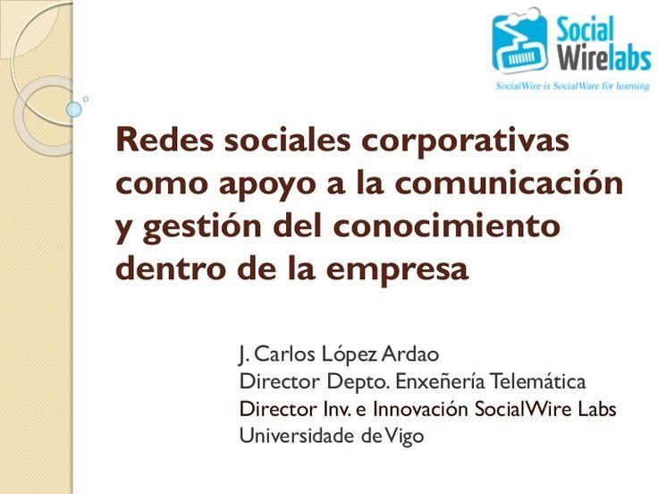 Redes sociales corporativas como apoyo a la comunicación y gestión ...