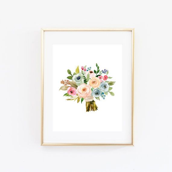 blumenstrau zum ausdrucken kunstdruck 8 x 10 hochzeit dekor ...