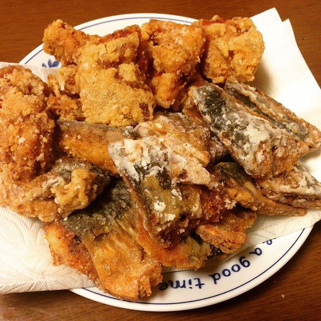 今夜は#からあげ と#ステーキ 😋 ・ ・ ・ #グルメ #夕食 #夜ご飯 #肉 #鳥 #鶏肉 #ごはん #白米 #牛肉 #牛 #揚げ物 #フライドチキン #腹パン #おなかいっぱい #満腹 #ダイエット #週に一度の贅沢 #steak #gourmet #food #dinner #meat #CHICKEN #friedCHICKEN #rice #beef #diet #Satiety