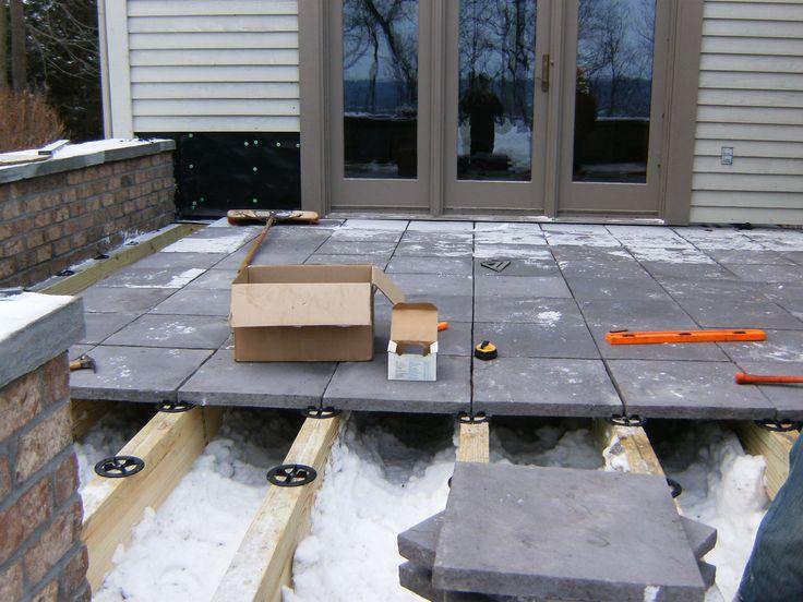 PEDESTAL PAVING Deck Beam Install Landscape materials