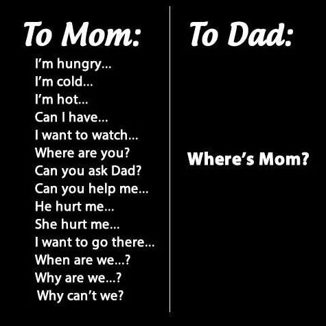 Do Kids Really Love Their Mom More Than Their Dad ---- funny pictures hilarious jokes meme humor walmart fails