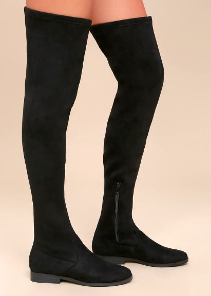 40735ebf9cb NWT Lulu s LFL Racy Black Suede Over the Knee Boots (Size 8.5)  fashion   clothing  shoes  accessories  womensshoes  boots (ebay link)