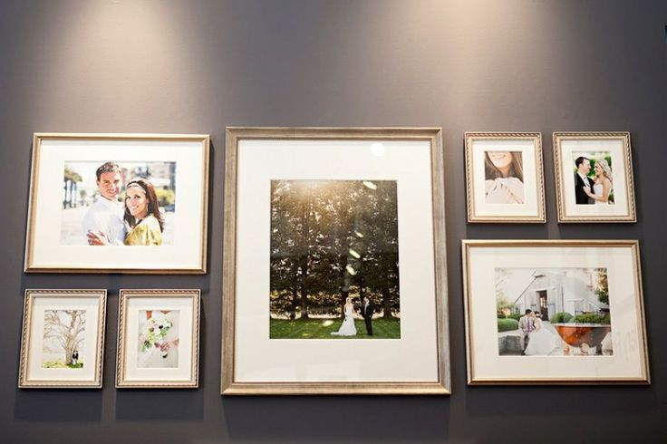 wedding picture frames collage Do something like this with an 11 x 14 train pic in the center