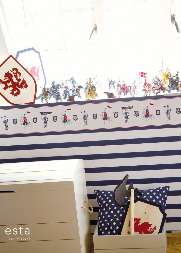 wallpaper Knights blue and beige Hearts & Heroes 174905 #behang #behangrand #Tapete #Tapetenborte #papier peint #frise #wallpaper #border #papel pintado #papel tapiz #cenefa #carta da parati #bordo #ridders #blauwenbeige #Knights #blueandbeige #Ritter #BlauundBeige #chevaliers #bleuetbeige #cavalieri #bluebeige #caballeros #azulybeige #ESTAhome.nl  ##jongenskamer #Jungenzimmer #dormitorio chicos #chambre garcon #ragazzi camera da letto #boys bedroom #stoer #cool #cool #cool #cool #cool…