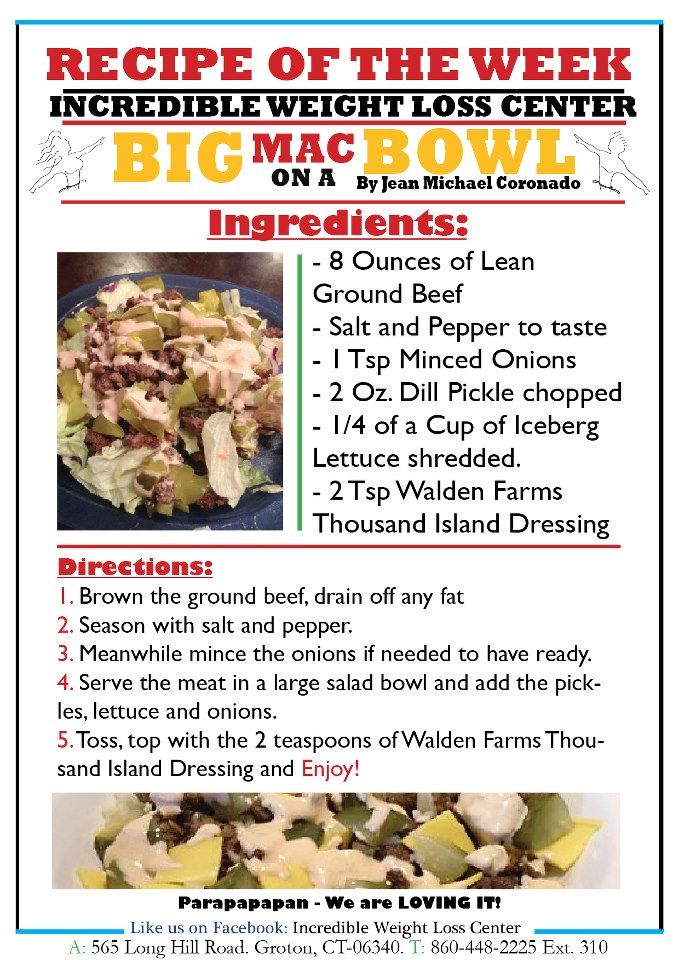 ideal protein big mac in a bowl