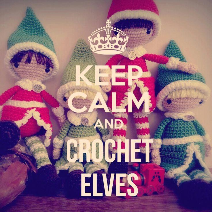 Keep calm and crochet elves - https://gynkamanufaktura.wordpress.com/2016/12/09/a-karacsonyi-manok-kalandos-tortenete/