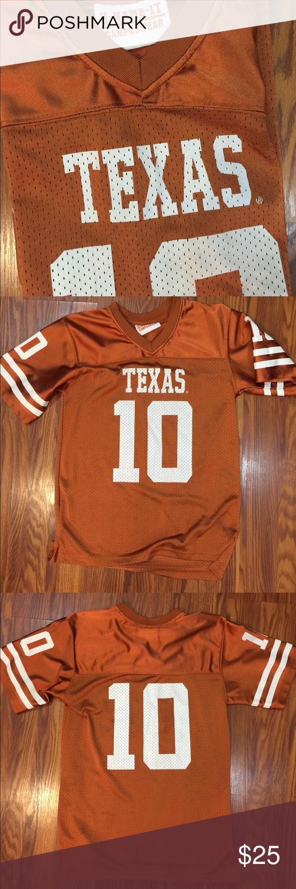 UT football jersey #10, no player name. EUC UT University of Texas football jersey #10, this is a boy size  Large U Name It Campuswear Shirts Tees - Short Sleeve