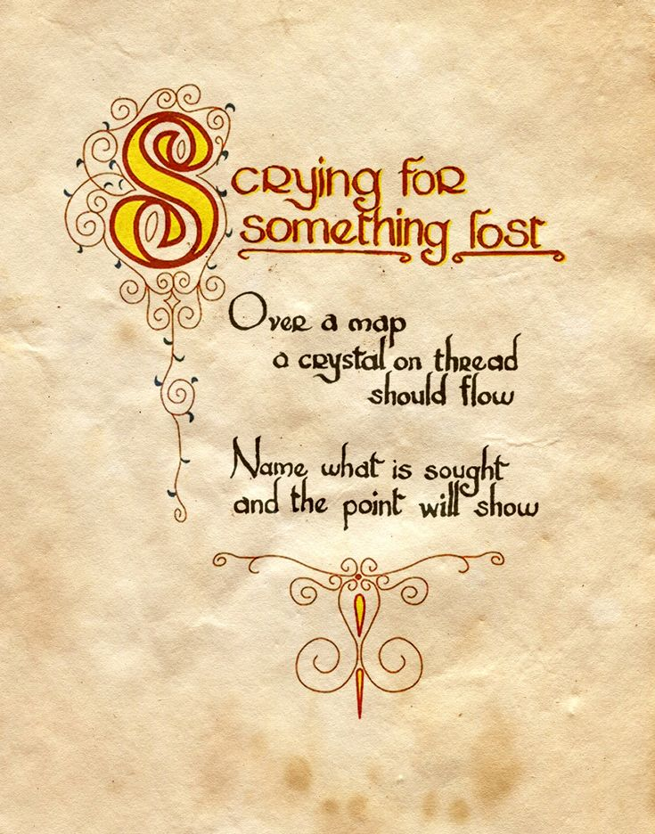 """Scrying for something lost"" - Charmed - Book of Shadows"