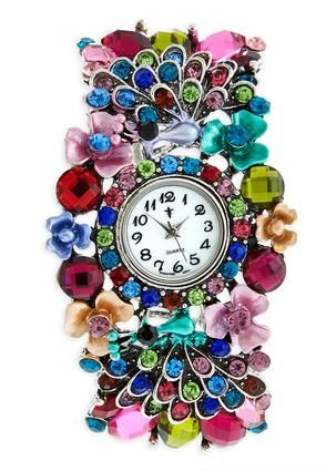 Cato Fashions Crystal Peacock Watch #CatoFashions #CATOSUMMERSTYLE