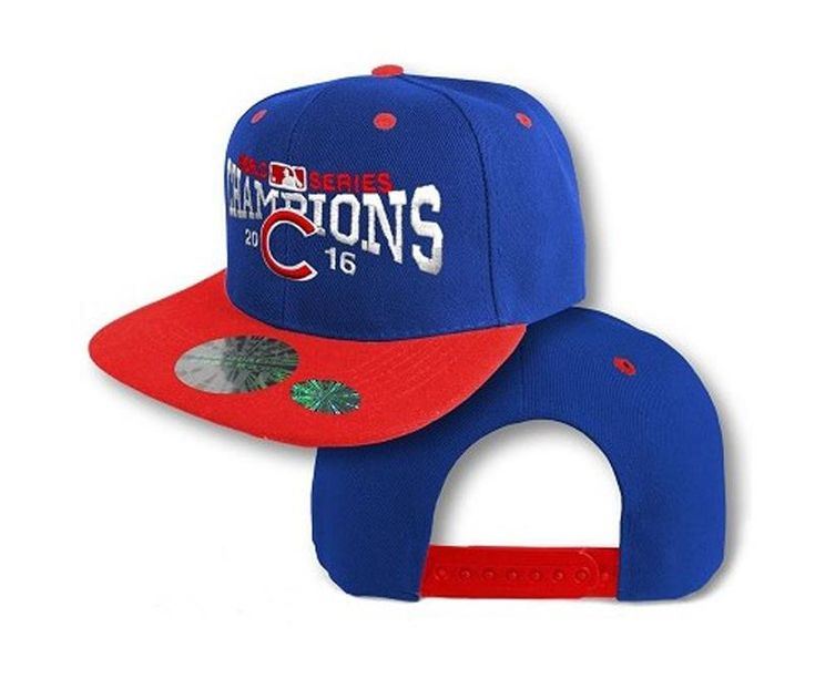 Men's Chicago Cubs New Era 2016 World Series Champions 9FIFTY Snapback Hat - Royal / Red