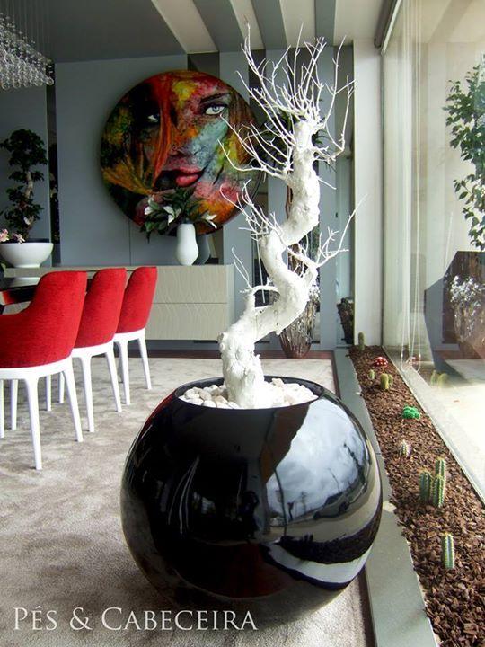 vaso em fibra de vidro