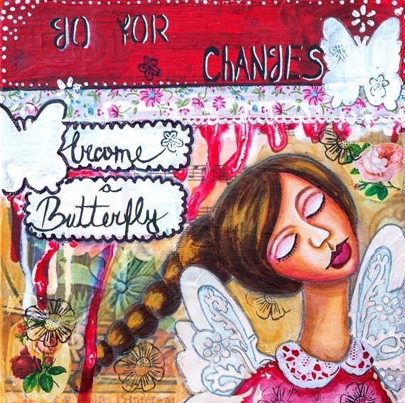81 best My Inspirational Art - Whimsical Mixed Media Art images on ...