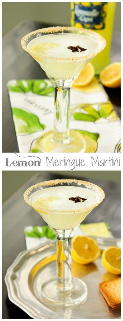 Lemon Meringue Pie Martini | ShesCookin.com