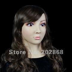[ $35 OFF ] [Sf-6] Party Crossdress Masquerade Fancy-Dress Costume Female Silicone Mask/props Fixed With String Binding
