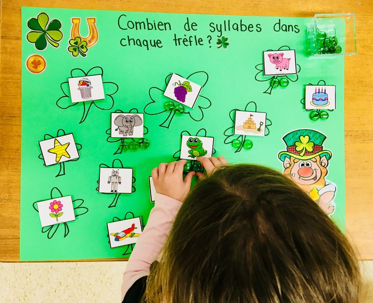 Combien de syllabes dans chaque trèfle? / How many syllables in each clover? ☘️