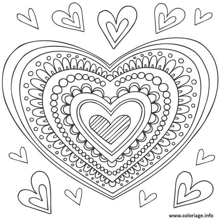 Les 25 Meilleures Idees De La Categorie Mandala Coeur Sur
