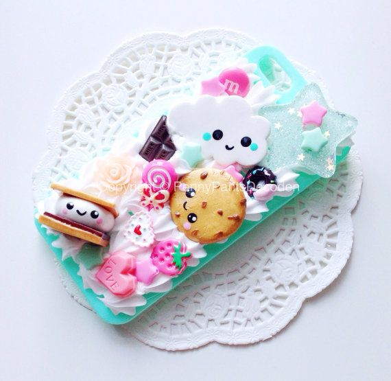CUSTOM Handmade Clay Figures Decoden Phone Case Kawaii Kitsch