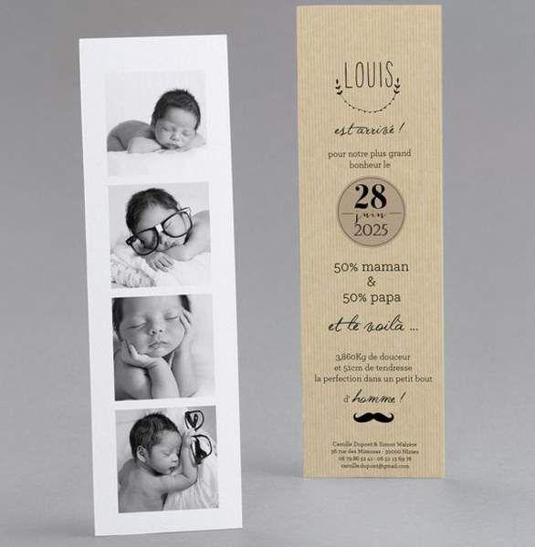 Jeune Des faire-part de naissance originaux repérés sur Pinterest IZ-27