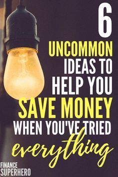 Calling all frugal fanatics! If you've tried just about every idea imaginable to save money, you need to read this article. We're covering 6 uncommon money saving tips that you've probably never heard of before.