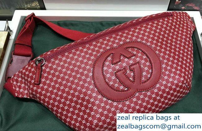 be05cc550 Gucci GG Leather Gucci-Dapper Dan Belt Bag 536416 Red 2018   Luxury ...