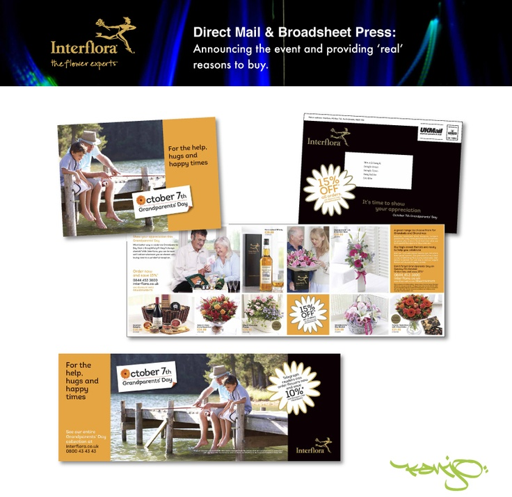"""Mail pack and press advert in the Daily Telegraph for Interflora - insight driven by """"Consumer View""""."""