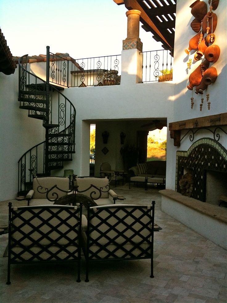 Mexican patios decor mexican hacienda architecture - Fuente para patio ...