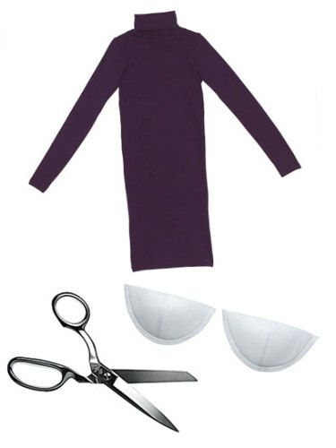 DIY: een coltrui-jurk met pofmouwtjes - Girlscene