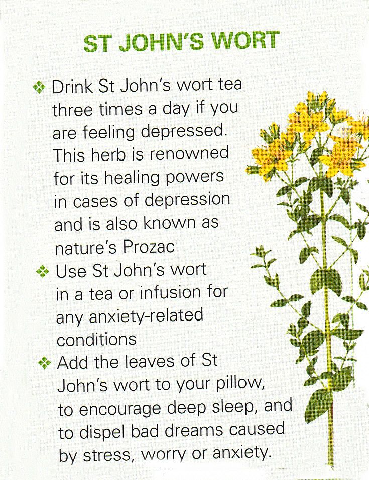 St johns wart anxiety
