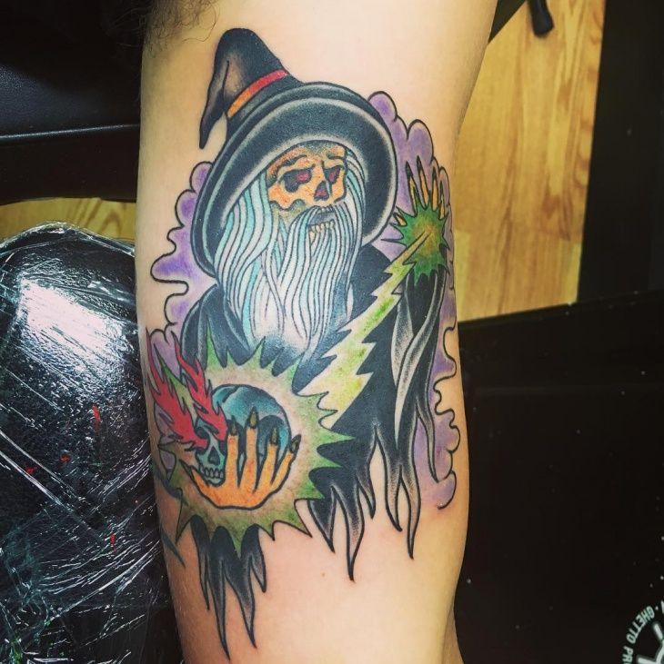 27 best wizard tattoo designs images on pinterest design for Wizard tattoo designs