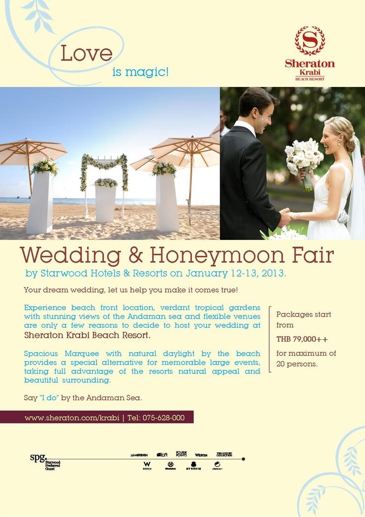 """Wedding & Honeymoon Fair"" by Starwood Hotels & Resorts on January 12-13, 2013."