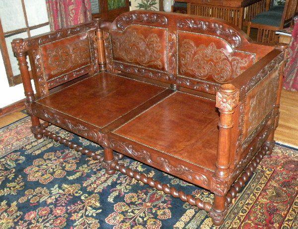 Renaissance Architecture - Spanish Revival Sofa, Tuscan Old World Sofa, Mediterranean Sofa, Santa Barbara Style Furniture