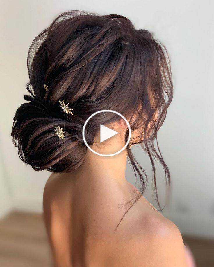 40 Plus Elegant Mariage Chignons Coiffures 2019 Elegant Hairstyles Updo Wed Coiffure Mariage Coiffure Demoiselle D Honneur Coiffures Longues De Mariage