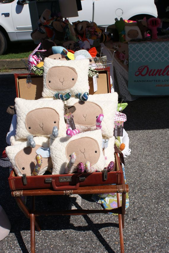 Mr Sheep softie plush doll toy pillow made to order by DunlapLove