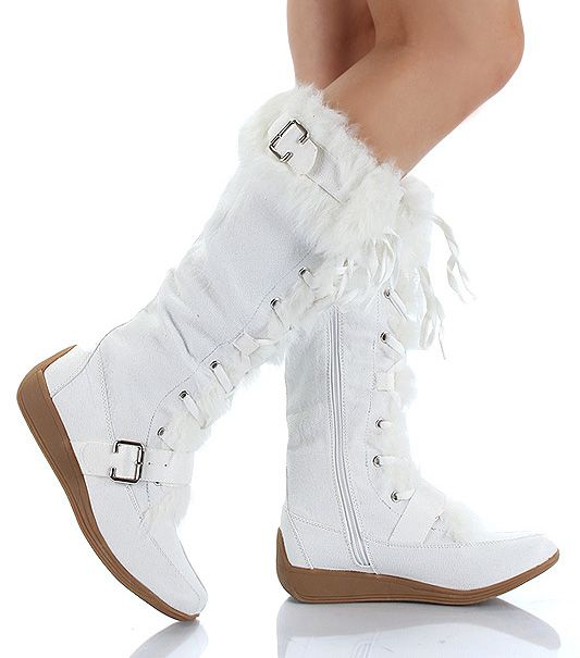 moccasins boots for women | Details about Furry Lace Up Moccasin Winter Boots Women WHITE Vegan