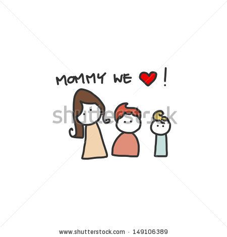 stock-vector-hand-drawing-cartoon-character-happy-family-149106389.jpg (450×470)